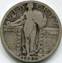 1927-S (F-12) Standing Liberty Quarter (2)
