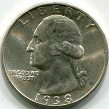 1938-S (MS-63) Washington Quarter
