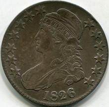 1826 (XF-45) Capped Bust Half Dollar