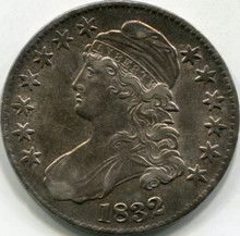 1832 SM Letter (AU-55) Capped Bust Half Dollar
