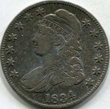 1834 SM Letter (VF-30) Capped Bust Half Dollar