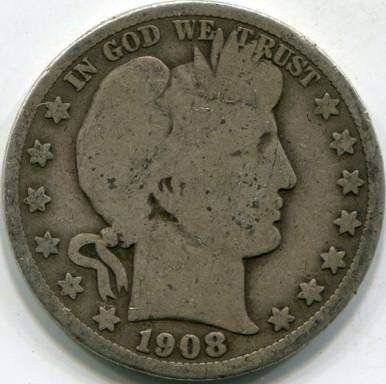 1908-O (VG-10) Barber Half Dollar