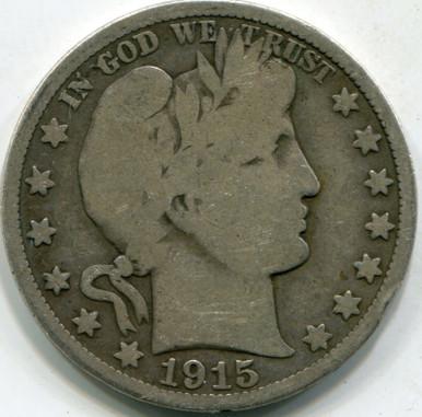 1915-D (VG-10) Barber Half Dollar