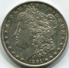 1891-S (AU-55) Morgan Dollar