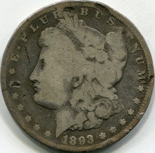 1893-CC (G) Details Morgan Dollar