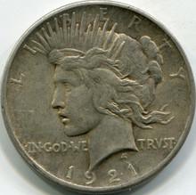 1921 (AU-50) Peace Dollar