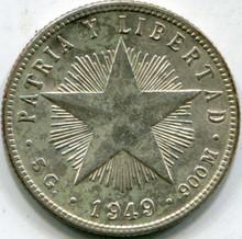 1949 Cuba (MS-60) 20 Centavos