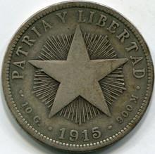 1915 Cuba (VG) 40 Centavos