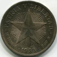 1933 Cuba Un Peso