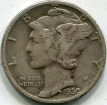 1930 (XF-45) Mercury Dime