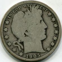 1905-O (G-6) Barber Half Dollar