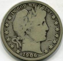 1906-D (VG) Barber Half Dollar
