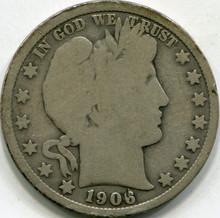 1906-O (G-4) Barber Half Dollar