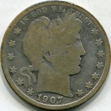 1907-D Cleaned  (G) Barber Half Dollar