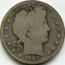 1907-S (G) Barber Half Dollar