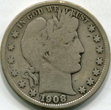 1908-D (VG-10) Barber Half Dollar