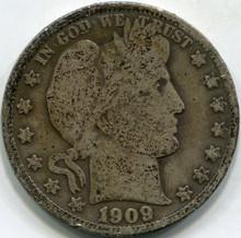 1909 (VG) Barber Half Dollar