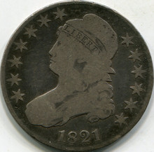 1821 (G-6) Capped Bust Half Dollar