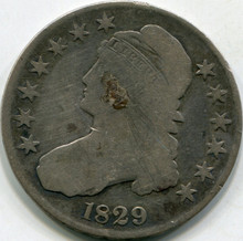 1829 Damaged (G) Capped Bust Half Dollar