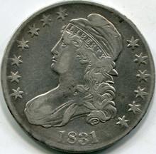 1831 (XF-40) Capped Bust Half Dollar