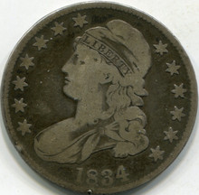 1834 Large Date Small Letter (VF-20) Capped Bust Half Dollar