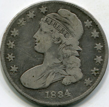 1834 Small Date Small Letter (VF-20) Capped Bust Half Dollar