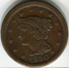 1850 Large Cent, VF