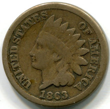 1863 Indian Head Cent, G
