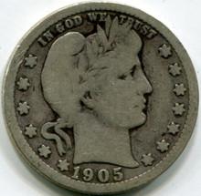 1905   Barber Quarter, G