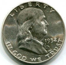 1952 D Franklin Half Dollar,  MS63