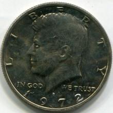 1972 D Kennedy Half Dollar,  UNC