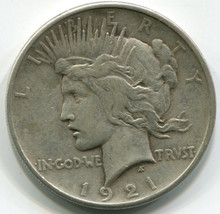 1921 Peace Dollar , VF