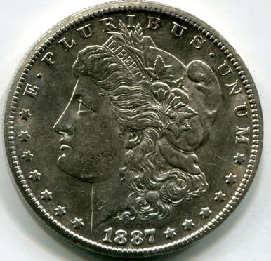 1887 S Morgan Dollar,  AU58