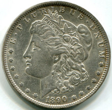 1890 O Morgan Dollar , AU