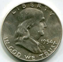 1954 D Franklin Half Dollar, MS64