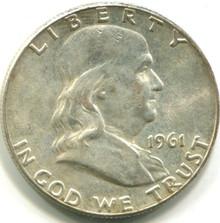 1961 Franklin Half Dollar, MS62