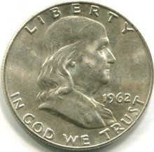 1962 D Franklin Half Dollar, MS62