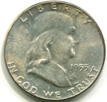 1955 Franklin Half Dollar, MS63