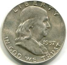 1957 D Franklin Half Dollar, MS65