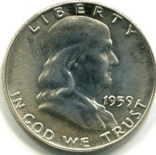 1959 Franklin Half Dollar, Proof 65 FBL