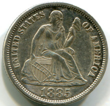 1885 Seated Liberty Dime Proof 60