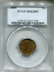 1895 Indian Cent,  PCGS MS63BN