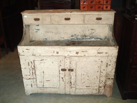 antique painte and distressed dresser