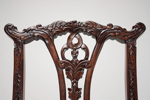 The Laurel Crown Chippendale Chair