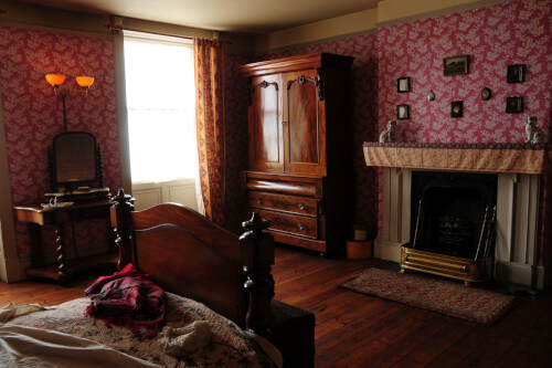 bedroom with antique furniture