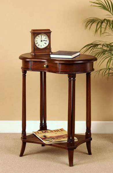 Mahogany Nut Shaped End Table