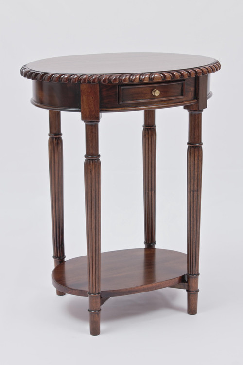 Chippendale Oval End Table