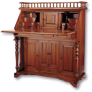 Surprising Antique Solid Wood Secretary Desk Laurel Crown Furniture Home Interior And Landscaping Mentranervesignezvosmurscom
