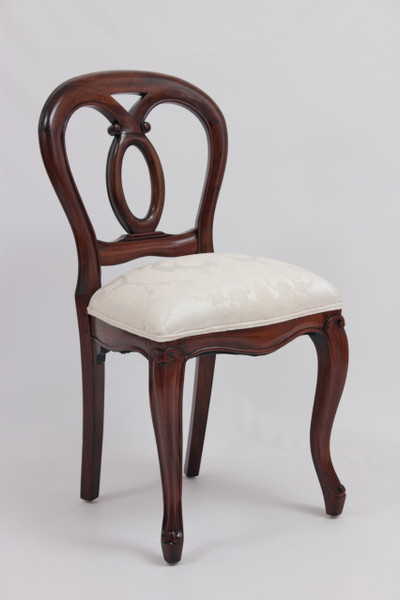 Victorian balloon-back dining chair in custom finish