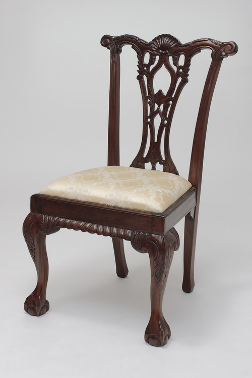 Reproduction Chippendale Chair Laurel Crown Furniture